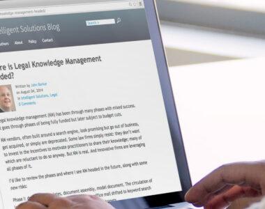 Corporate Blogging Plattform für Wolters Kluwer / Wolters Kluwer
